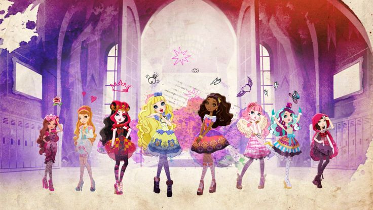 Mattel's Fashion Toy line is brought to life by Guru Studio using Toon Boom animation software #mattel #fashion #toys #animation #cartoons #briarbeauty #applewhite #ravenqueen #madelinehatter #everafterhigh