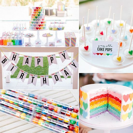 Rainbow Party - one of 51 of the Best Birthday Party Ideas For Girls