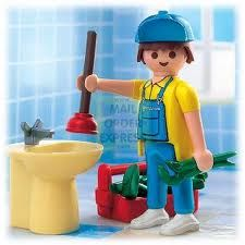 """The word """"Plumbing"""" derives from the Latin word for Lead, plumbum. Incidentally, the periodic table element label for lead, Pb, is based on the same word"""