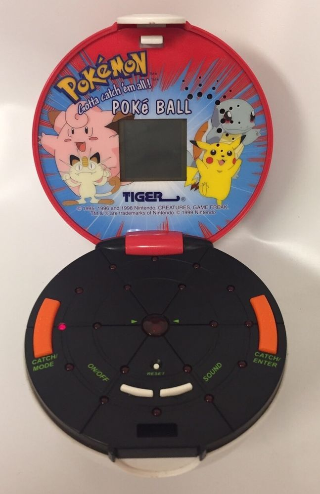 Vtg Pokémon Poke Ball Handheld Video Game Tiger Electronics Vintage    eBay