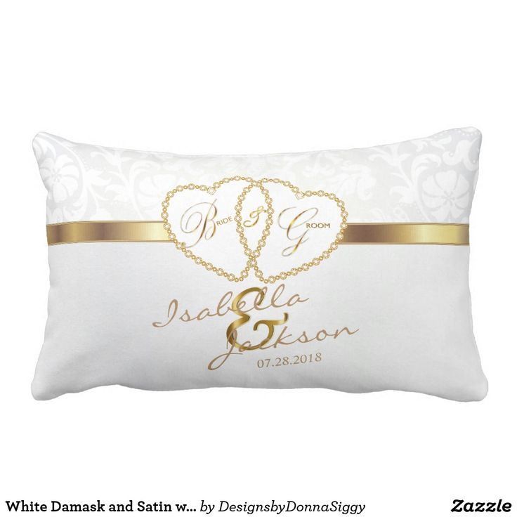 White Damask and Satin with Gold Wedding Design
