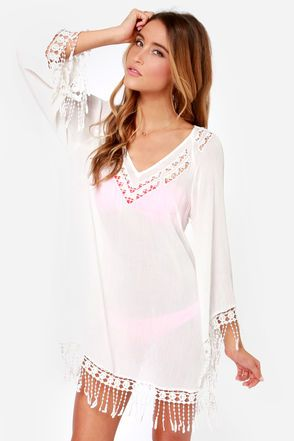 Life's a Beach Ivory Crocheted Cover-Up at Lulus.com!