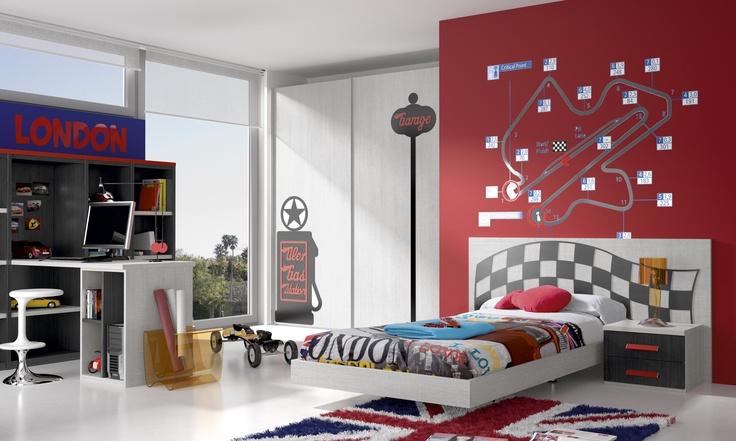 Habitaciones infantiles tem ticas dibujos animados coches4 - Habitaciones infantiles disney ...