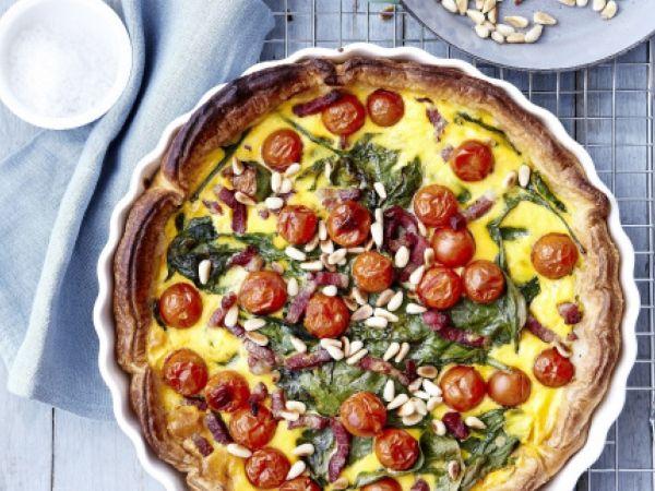 Quiche met spinazie, tomaatjes en pijnboompitten (Libelle Lekker!)
