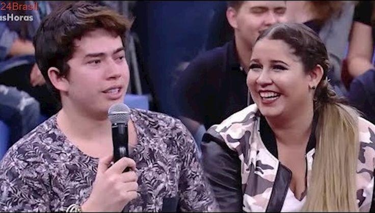 Whindersson Nunes faz Marília Mendonça chora de rir com brincadeira no Altas Horas