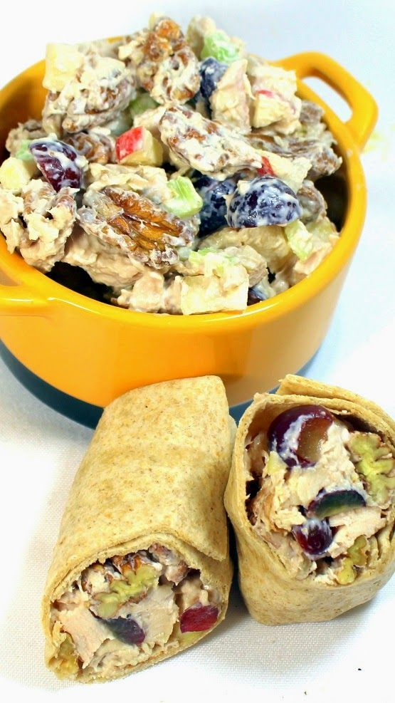 Artisan Chicken Salad With Grapes And Pecans This Is One Loaded Salad Low In Mayo