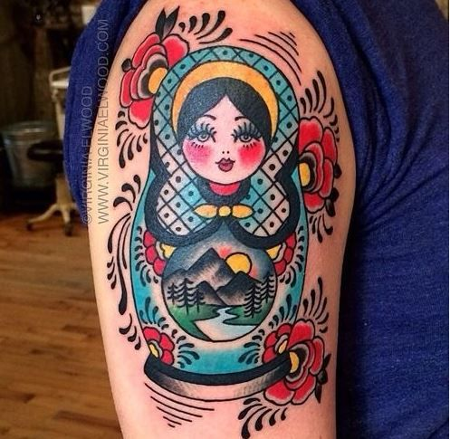 Tatuajes de muñecas Matrioskas
