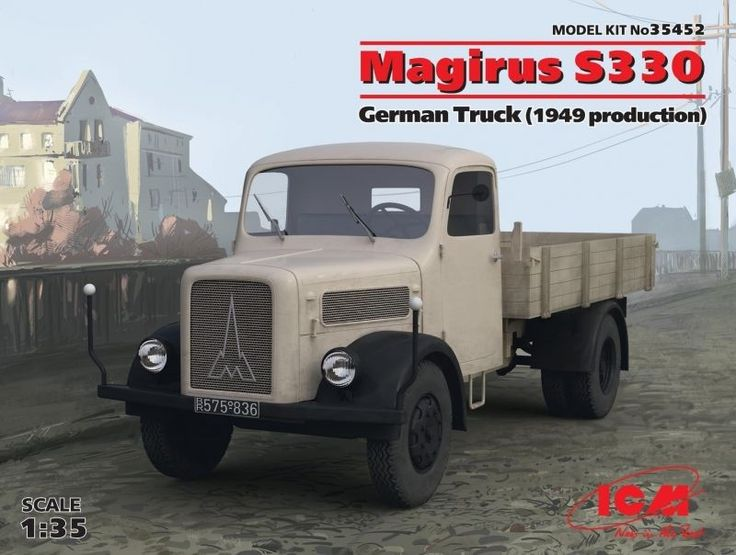 Magirus S330 German Truck 1949 Production 1/35 Plastic Model Kit by ICM 35452 #ICM