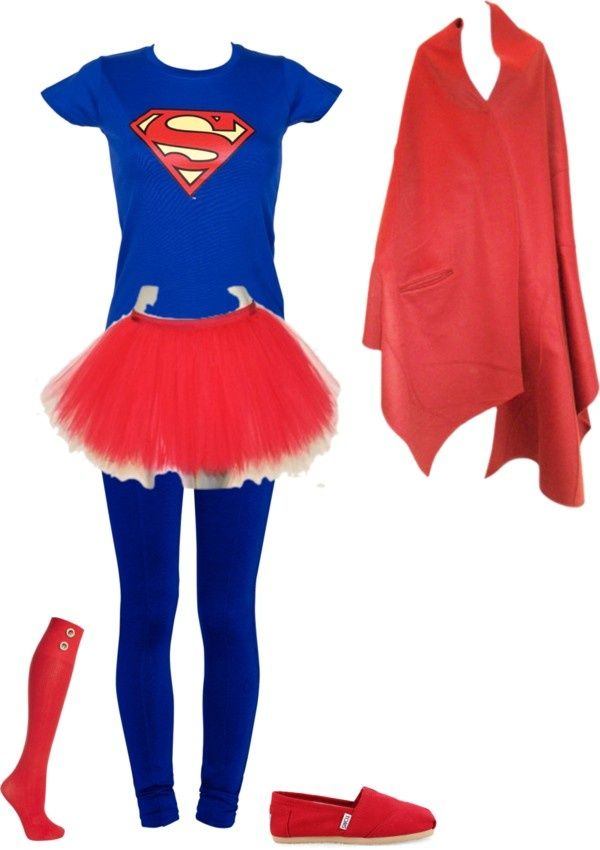 """""""Superwoman"""" by balesa112 on Polyvore how can i make this batman.  So cute and not slutty! :-)"""