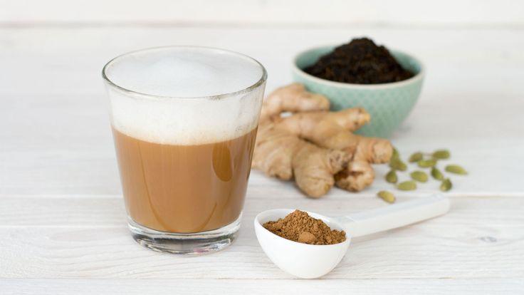 Superfood Chai Tea mit Reishi Vitalpilzpulver #superfood #rezepte #vitalpilze #reishi