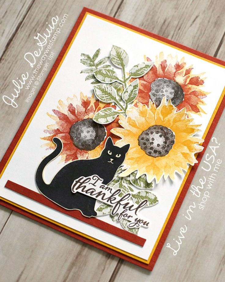 Halloween Card Ideas Painted Harvest by