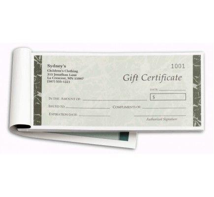 Custom Gift Certificate Books D857B Looking for classy custom gift - copy custom gift certificates with stub