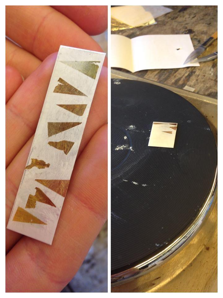 Keum- Boo tehnique 25ct gold foil fine silver - Tecnica del keum-boo con la foglia d'oro 25 carati