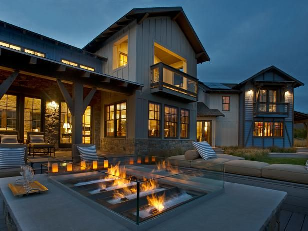 Custom fire pits blend with native landscaping in the HGTV Dream Home in Park City, UT. One day left to enter to win this home!
