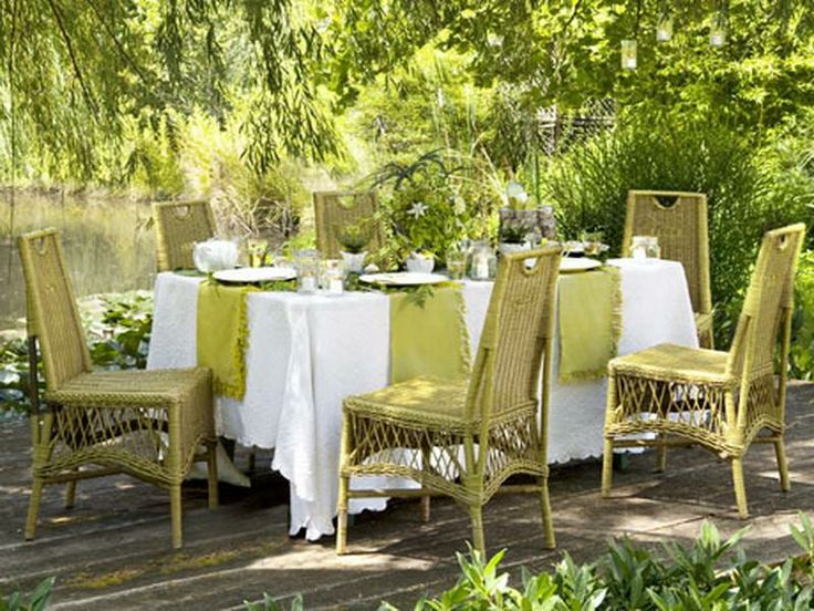 35 best table dressing images on pinterest place for Outdoor dinner party decorating ideas