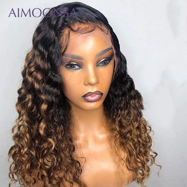 Honey Blonde Lace Front Wigs 360 Lace Wig 1B/30 Hair Color