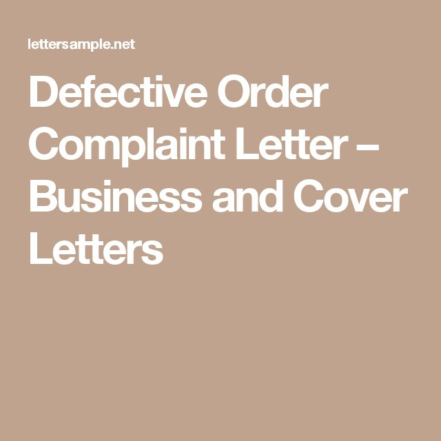40 best Sample Business and Cover Letter images on Pinterest - complaint letters samples
