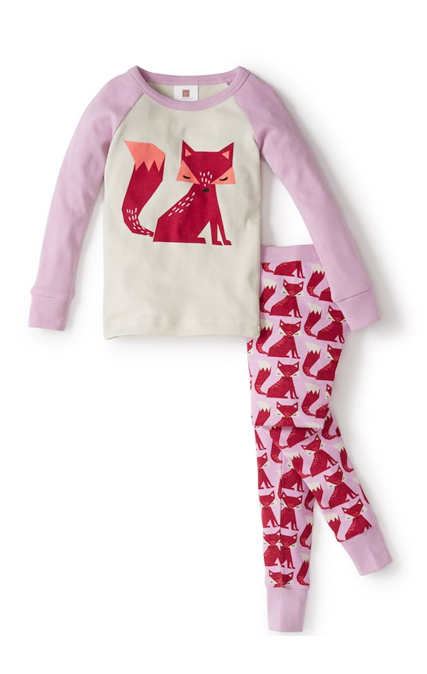 "Zorro lindo is Spanish for ""cute fox."" These comfy pajamas are adorned with a fun fox print. Find these pajamas and more on teacollection.com"