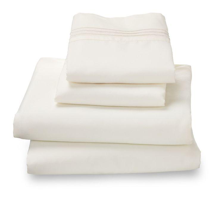 Cream Ultra Microfiber Bed Sheet Set