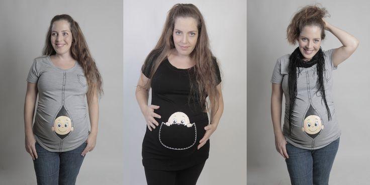 Divertenti T-shirt Premaman http://www.differentdesign.it/divertenti-t-shirt-per-maternita/ Una simpatica versione di #t-shirt #premaman, con #bimbi curiosi che sbirciano dal pancione...