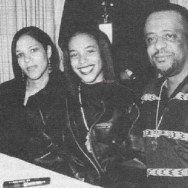 Aaliyah with her loving parents