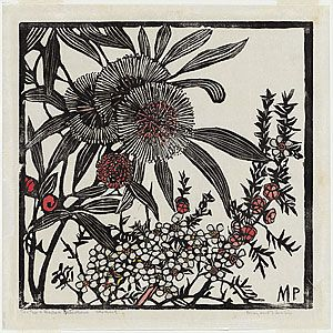 Margaret PRESTON, Tea-tree and Hakea petiolaris