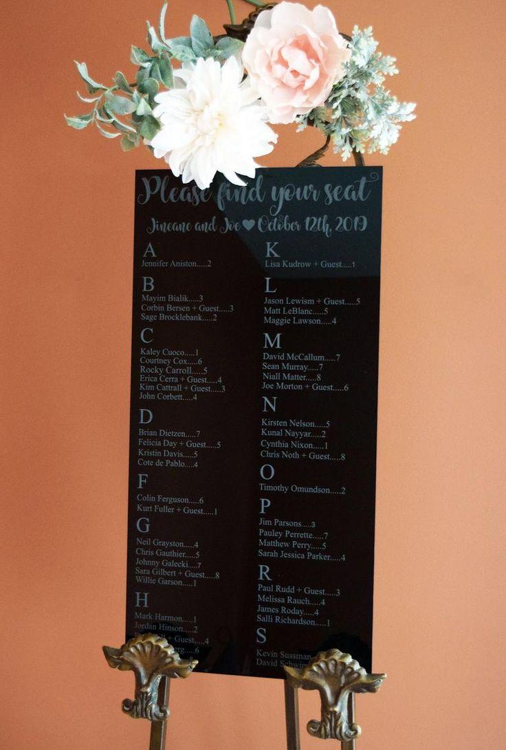 12x24 Wedding Seating Chart Acrylic Sign   Etsy  Wedding   Wedding Décor   Wedding Ideas   Bridal   Bride   Groom   Bridesmaids   Bridal Party   Groo...
