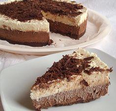Υλικά συνταγής:    Απλά σοκολατένια μπισκότα : 200 γρ. (όχι γεμιστά)     Λιωμένο βούτυρο : 80 γρ.     Σκόνη ζελατίνη : 6 κουταλάκια τσ...