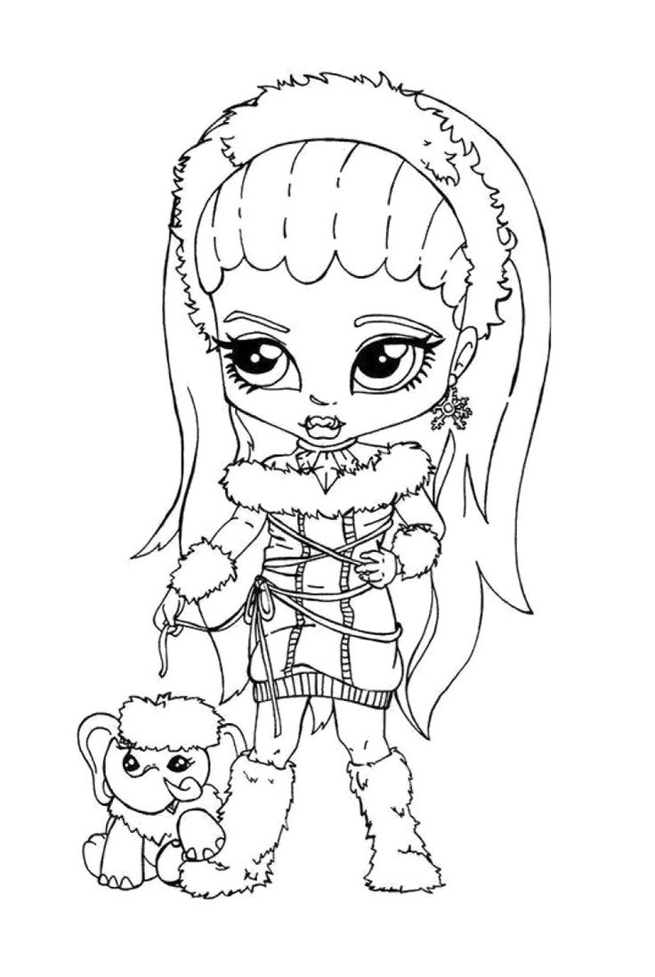 small monster high coloring pages - photo#20
