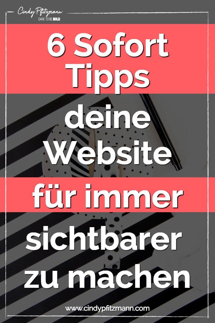 5 Schritte, um Ihre Website sichtbarer zu machen.