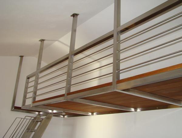 Camera Da Letto Con Struttura In Legno E Bauli Interior Design : Bruno acciai scala e soppalco da interni in acciaio inox