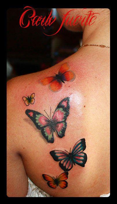 butterfly tattoo #realistic tattoo #butterfly #tattoos