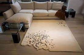 .: Cutouts, Idea, Floral Patterns, Living Rooms, Area Rugs, Carpets, Flowers Design, Design Studios, Cut Outs