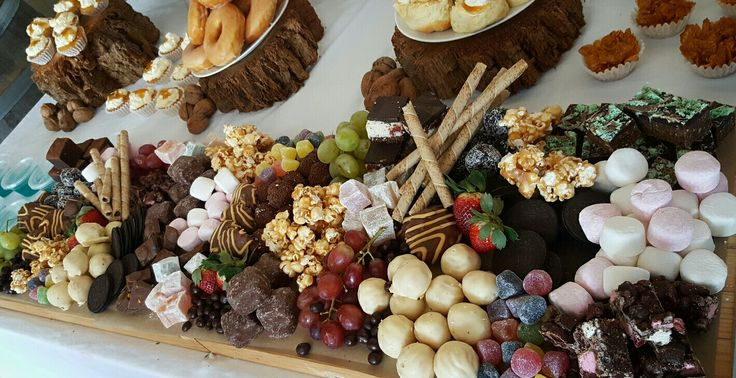 Dessert grazing platter/table, chocolate, marshmallows, fruit, lollies, caramel popcorn, biscuits and more!