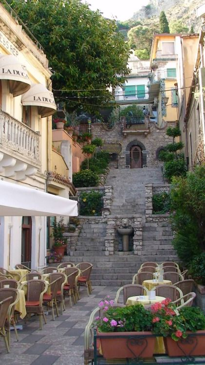 "catycutexo: "" Taromina, Sicily, Italy. A great hotel is the San Domenico Palace Hotel converted from a 14th century Dominican monastery #taormina """