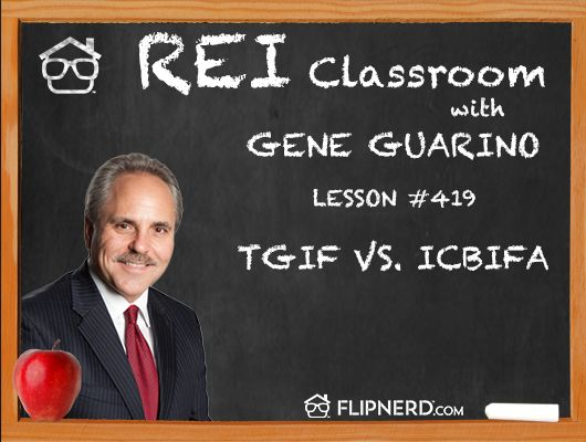 """Find out what Gene Guarino means when he says """"ICBIFA"""" and how this is his saying, instead of TGIF!"""