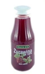 Sok żurawinowy. Cranberry juce. Czysty sok żurawinowy 100%, w poręcznej butelce, niezastąpiony w walce z dolegliwościami układu moczowego. Idealny do torebki, do pracy, aby wypić go w ciągu jednego - dwóch dni, dostarczy organizmowi wielu cennych substancji odżywczych.