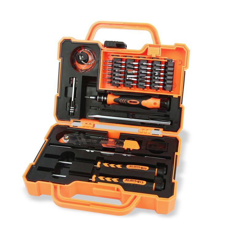 Jakemy 45 en 1 profesional electrónica destornilladores de precisión mano caja de herramientas conjunto de herramientas de apertura para iphone herramientas de reparación de pc Kit