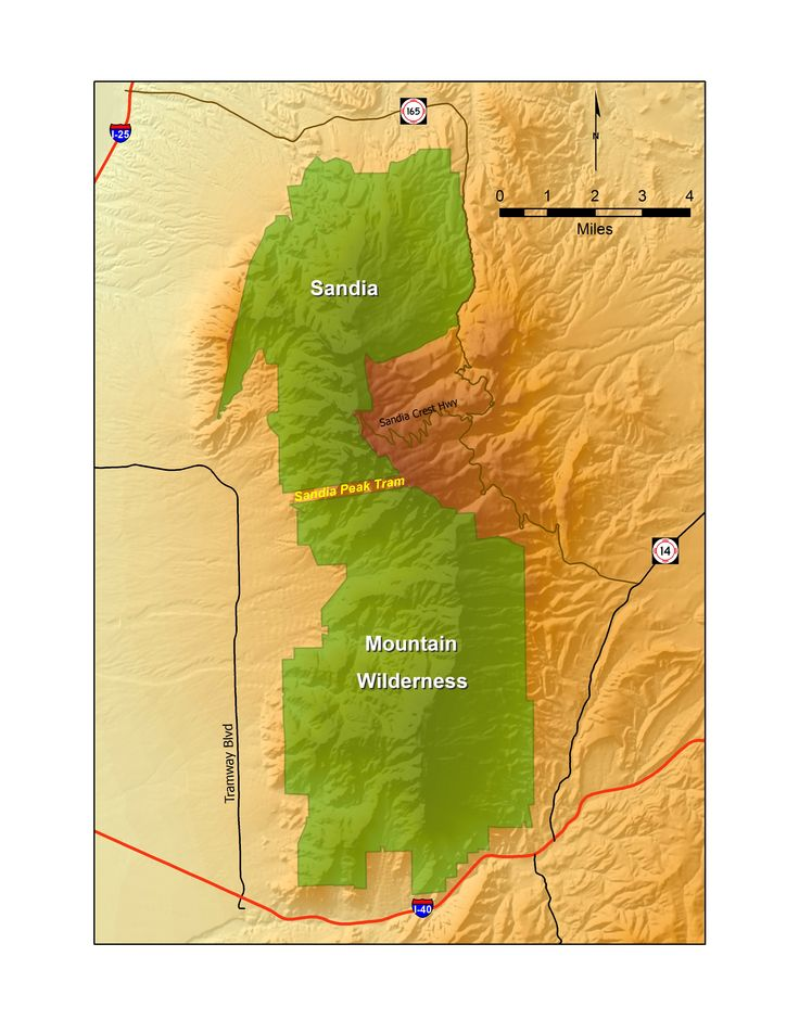 Map Southern Mexico%0A Map of New Mexico u    s Sandia Mountain Wilderness  The Sandia Mountains  dominate Albuquerque u    s eastern landscape