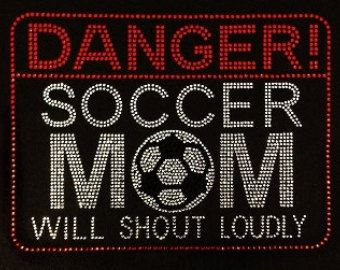 Rhinestone Soccer Mom Shirt Bling Soccer Mom Tshirt                                                                                                                                                                                 Más