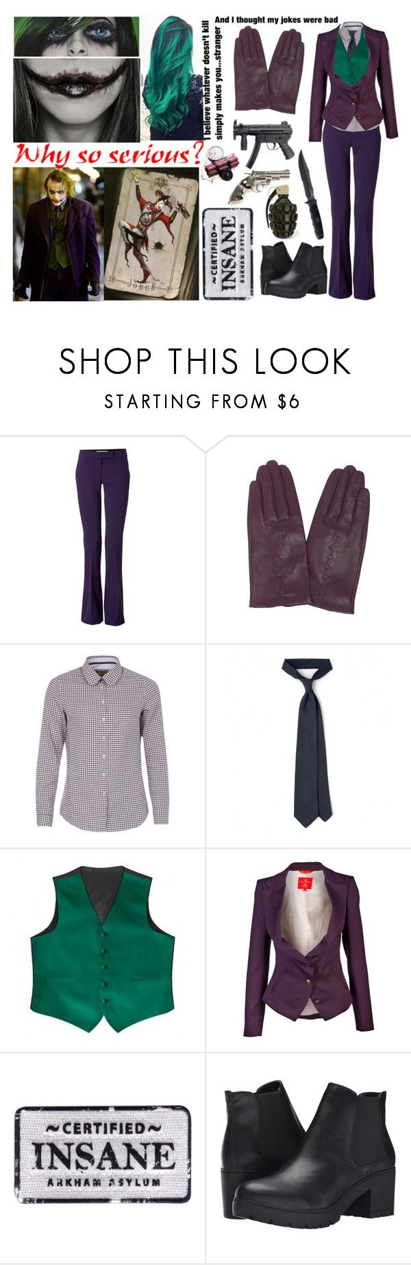 """""""Female Joker"""" by bellageorgia ❤ liked on Polyvore featuring Emilio Pucci, Dorothy Perkins, Barbour, Drakes London, Vivienne Westwood Red Label, Steve Madden and Yves Saint Laurent"""