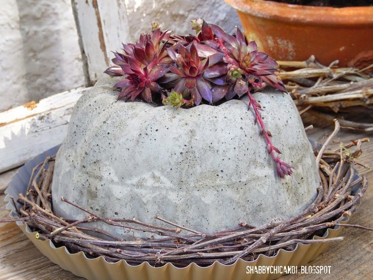 Shabby chic and I - Shabby Chic, DIY, Deko und Food: DIY backe Beton Kuchen..