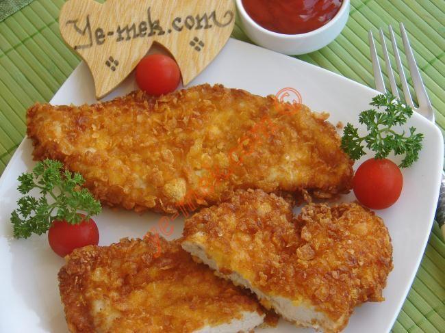 Mısır Gevrekli Tavuk Şinitzel Resimli Tarifi - Yemek Tarifleri