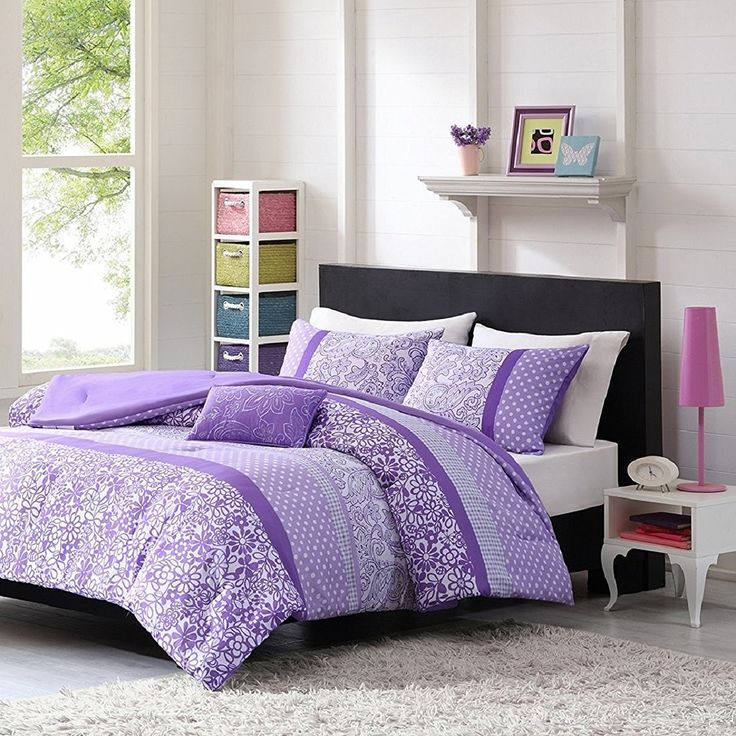 Attractive Teen Girl Comforter Sets Purple Lavender Lilac Bedding