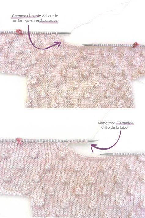 Jersey de Punto POPCORN para Bebé - [ Tutorial y patrón ] | Punto ...