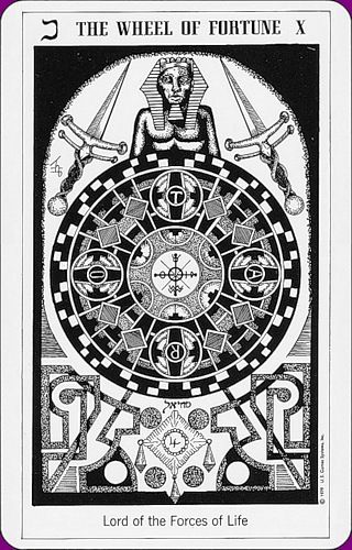 Image result for Wheel of fortune tarot hermetic