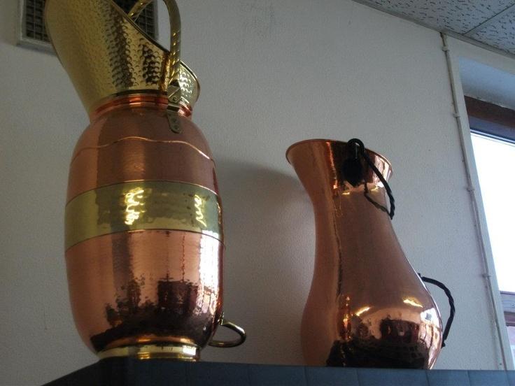 Big vases (copper & brass)