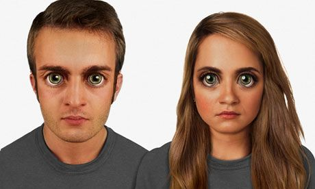 We will all look like anime characters in 100,000 years thanks to Facebook and Pinterest