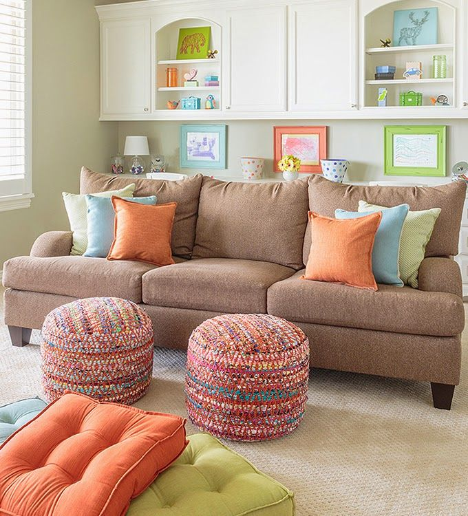 colorful family room   Marker Girl Home
