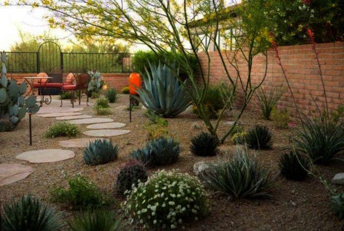 Backyard Landscape Ideas On A Budget Where Backyard Landscape Ideas Without Grass In 2020 Low Water Landscaping Desert Landscaping Backyard Desert Landscape Design